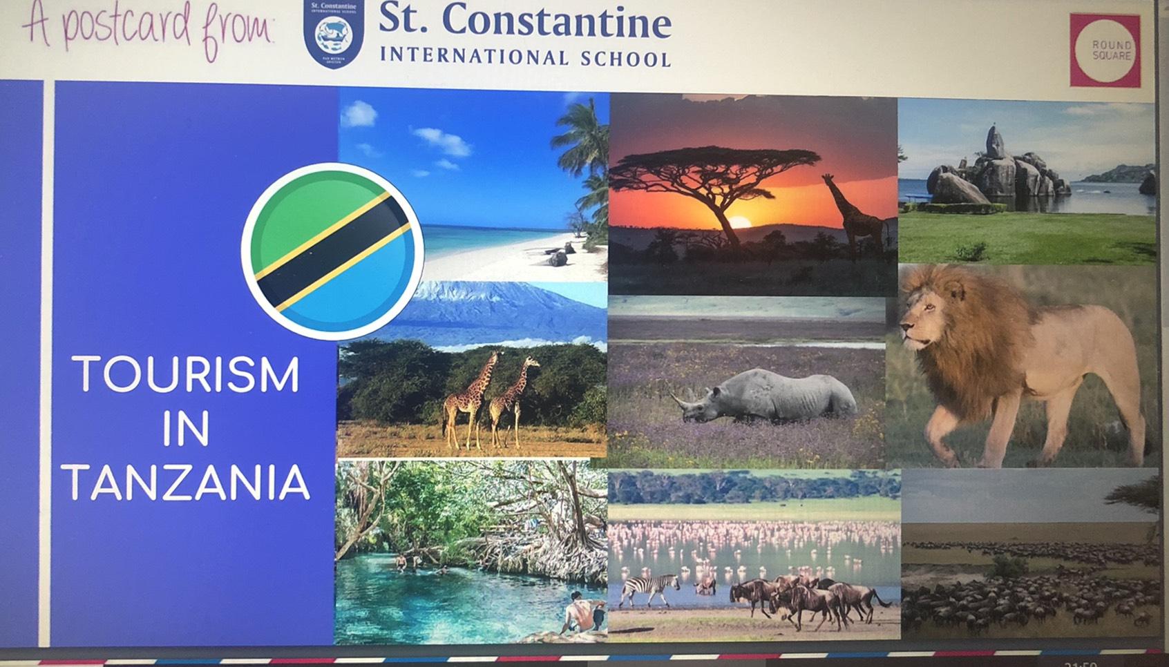 タンザニアのラウンドスクエア加盟校主催のPostcard Zooming Around the Worldに参加しました