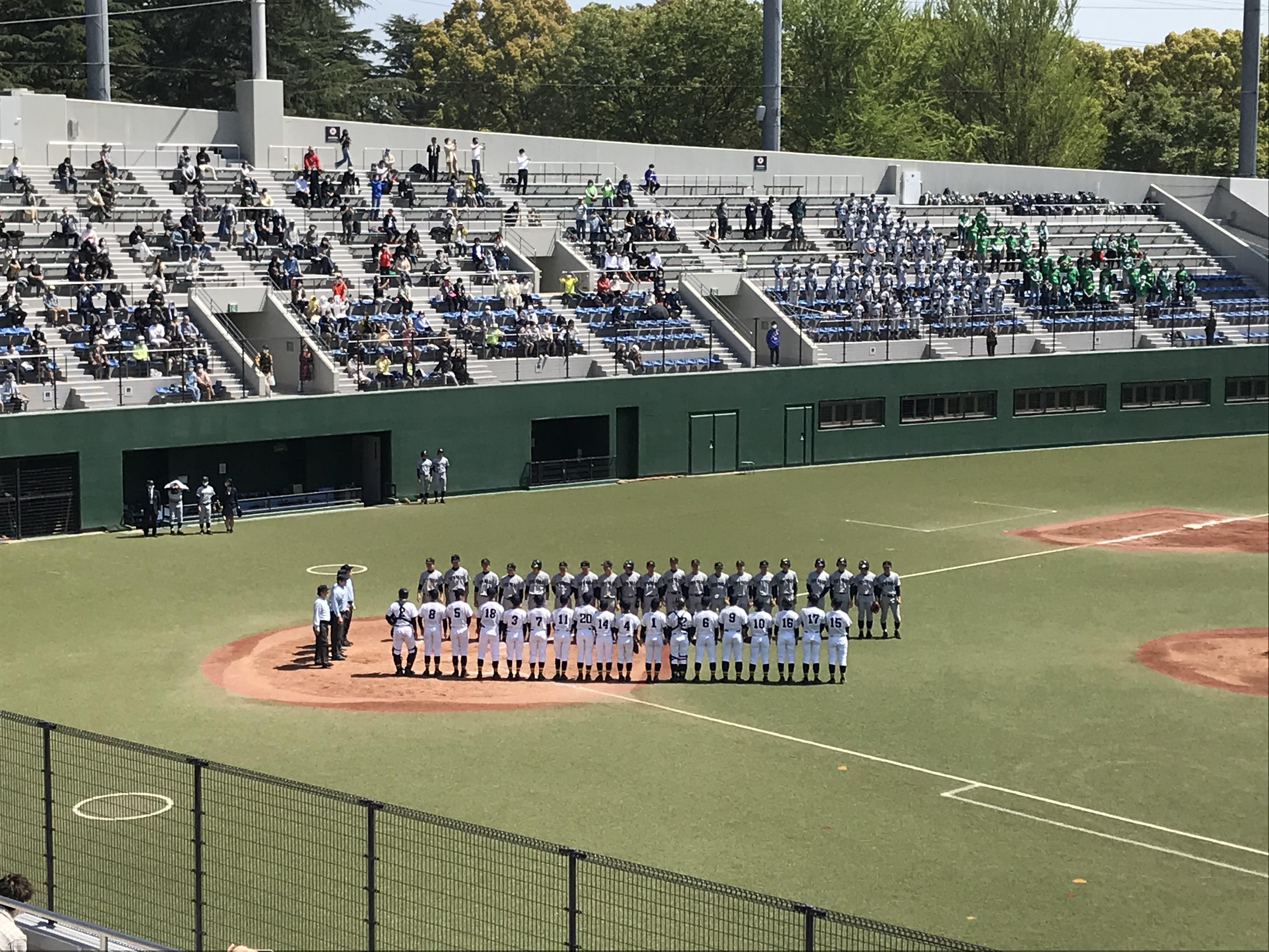 高校硬式野球部 春季大会2回戦