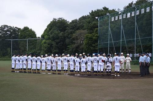 高校硬式野球部 秋季大会一次予選代表決定戦